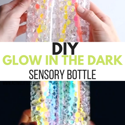 diy glow in the dark sensory bottle