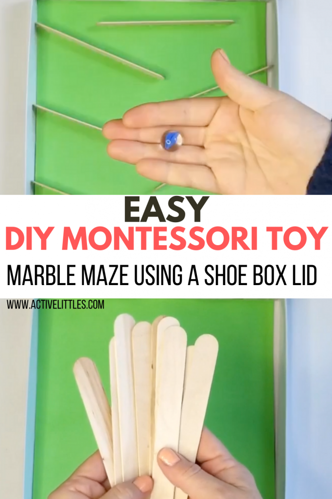 diy montessori marble maze using a shoe box kids activity