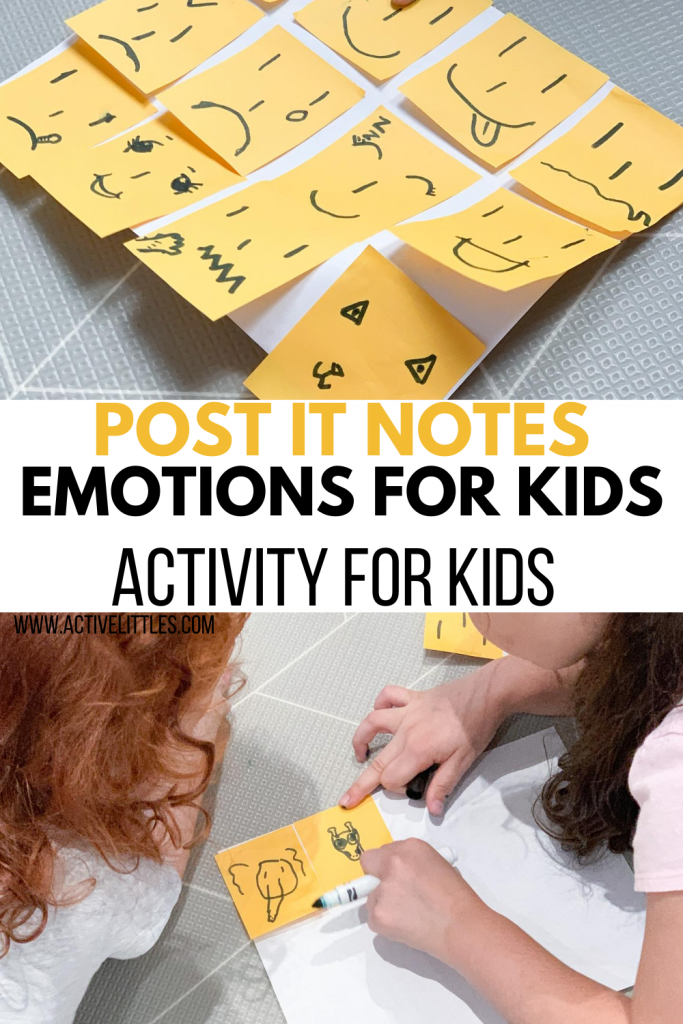 diy post it notes activity for kids