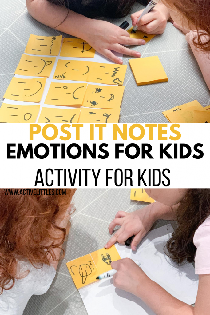 diy post it notes emotions for kids activity