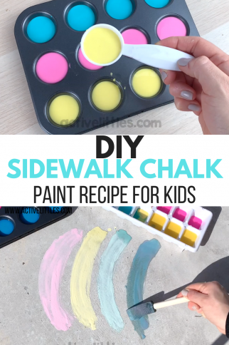 DIY Sidewalk Chalk Paint Recipe for Kids