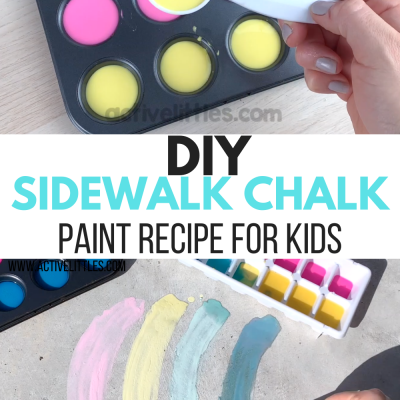 diy sidewalk chalk paint recipe