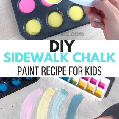 diy sidewalk chalk paint recipe