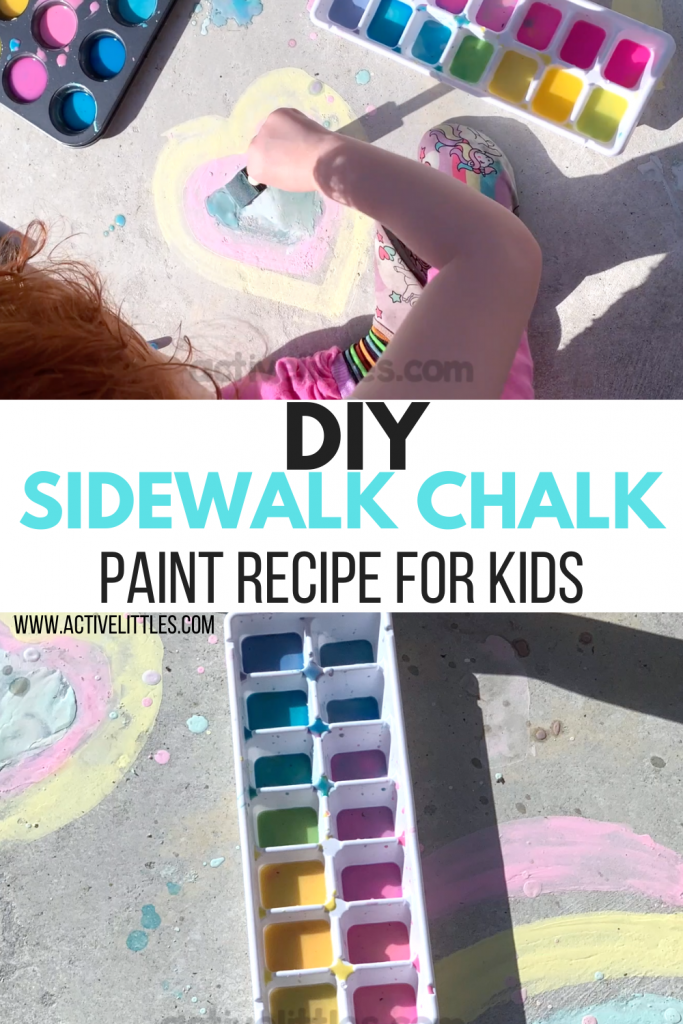 diy sidewalk chalk paint recipe for kids