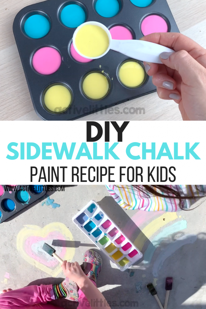 diy sidewalk chalk recipe video