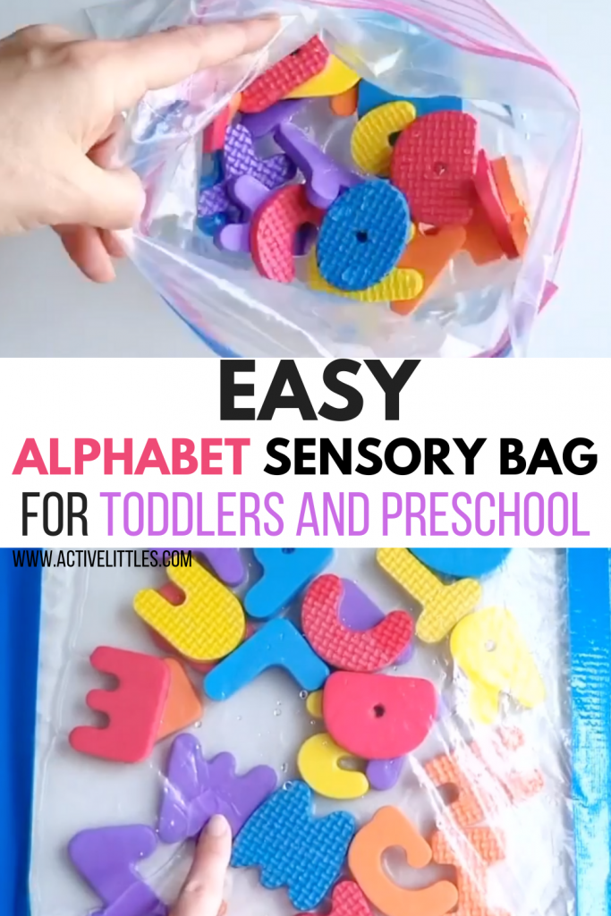 easy alphabet sensory bags for toddlers and preschool