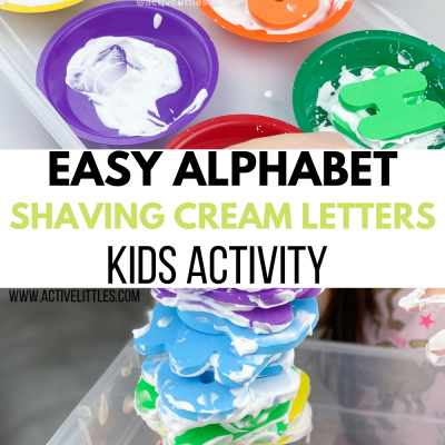 easy alphabet shaving cream letters kids activity