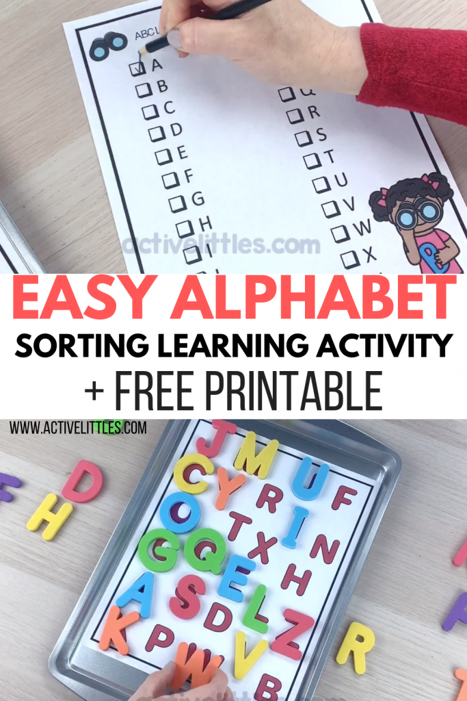 easy alphabet sorting learning activity and free printable