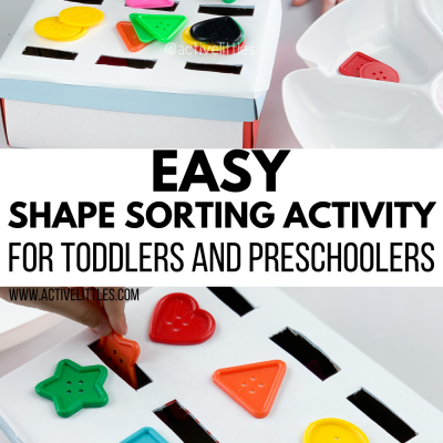 easy shape sorting activity