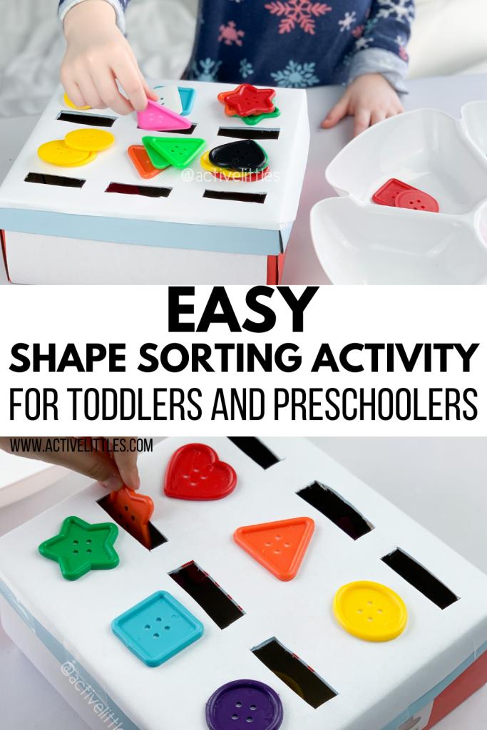 easy shape sorting activity