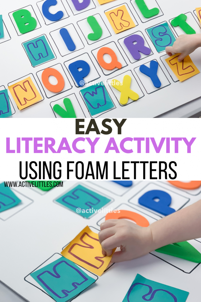 foam letters activity for kids