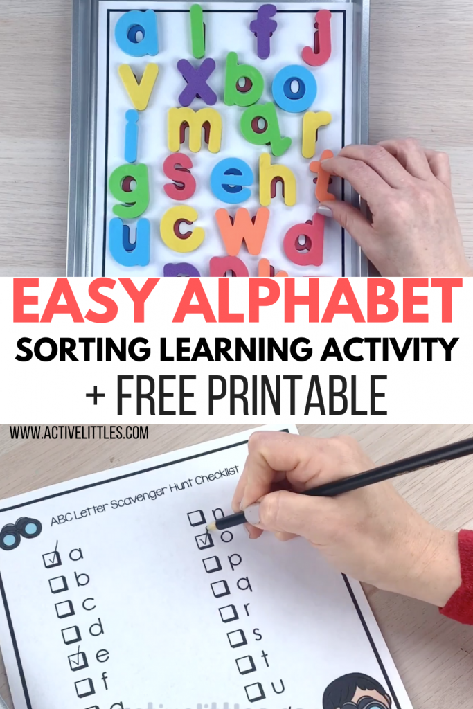 free printable alphabet learning activity