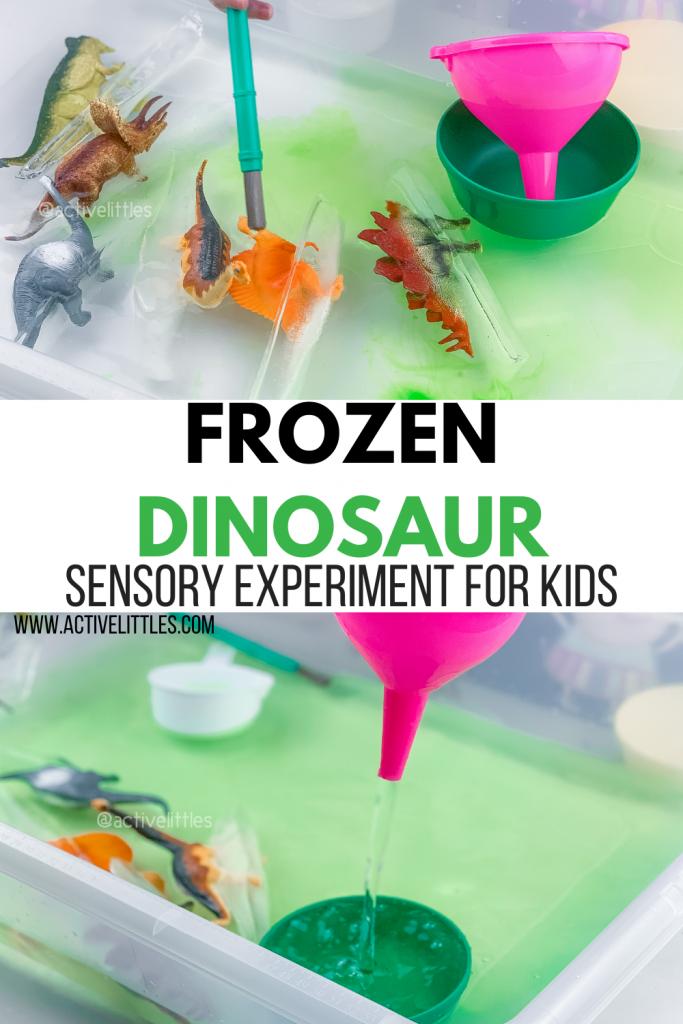 frozen dinosaur sensory activity for kids