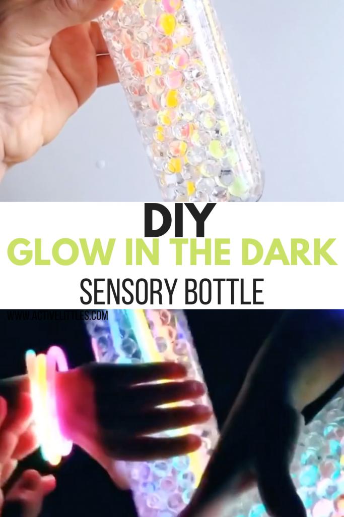 glow in the dark sensory bottle diy