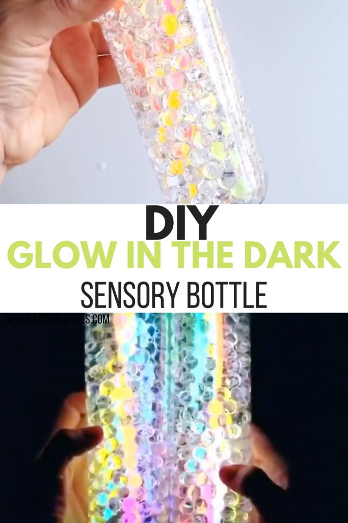 glow in the dark sensory bottles