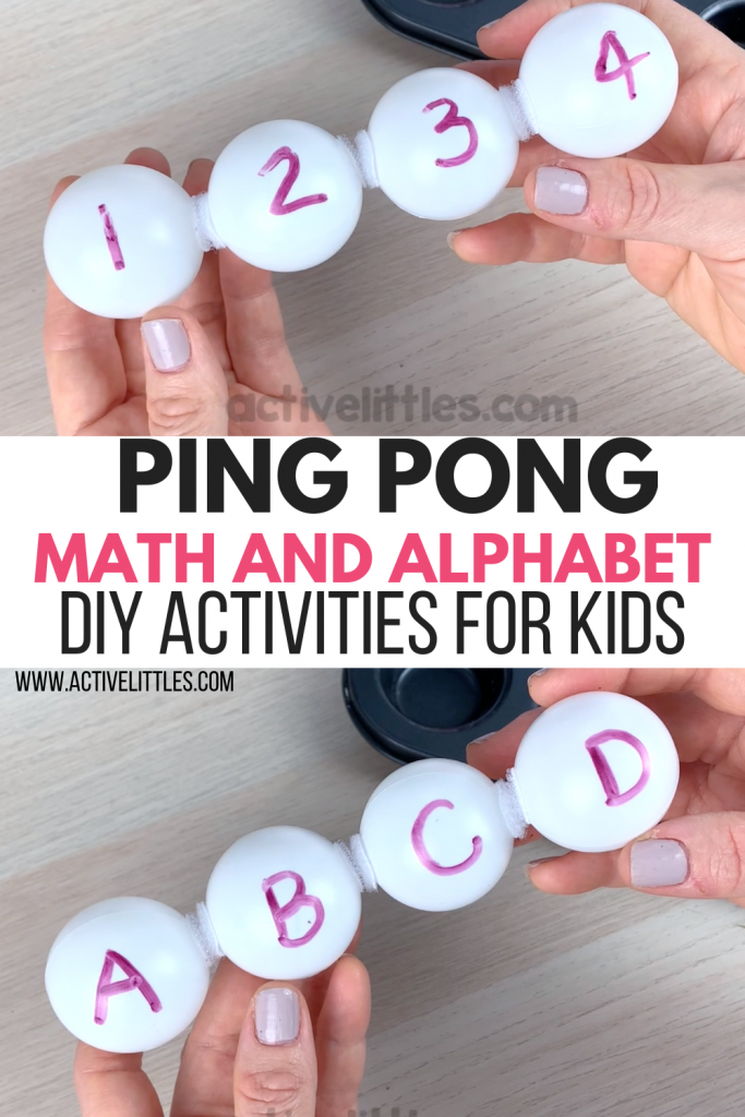 ping pong ball alphabet and math activity diy