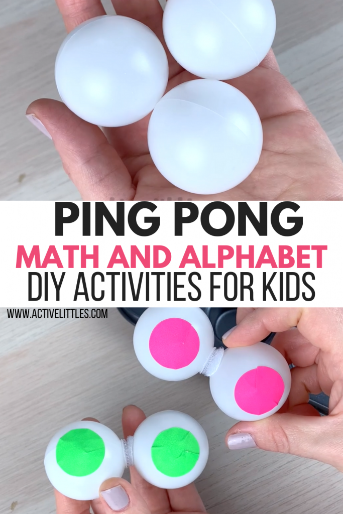 ping pong early years math and alphabet activity