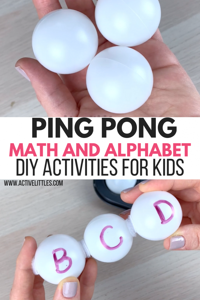 ping pong early years math and alphabet activity for kids