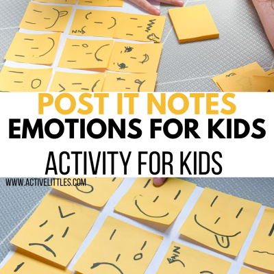 post it notes activity for kids at home
