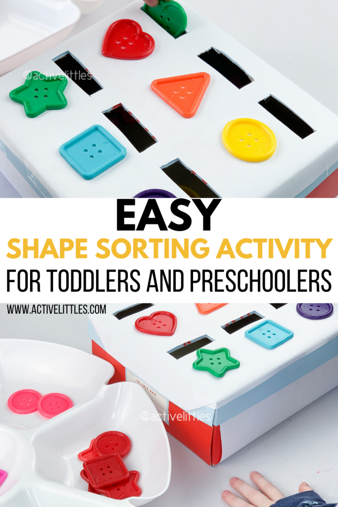 shape sorting activity for kids