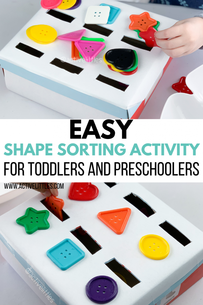 shape sorting activity for toddlers and preschool