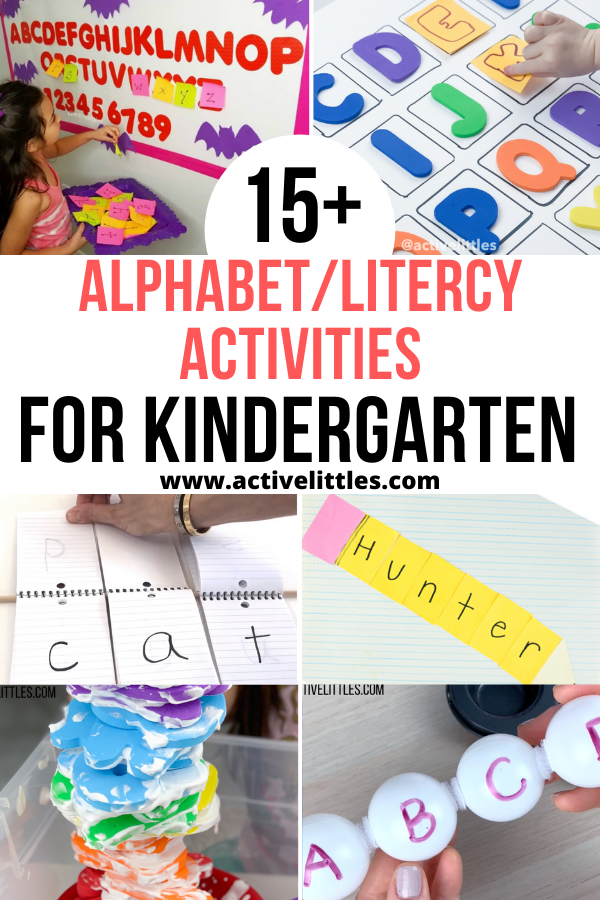 alphabet and literacy activities for kindergarten
