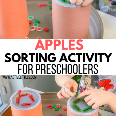 aplpe sorting activity for kids