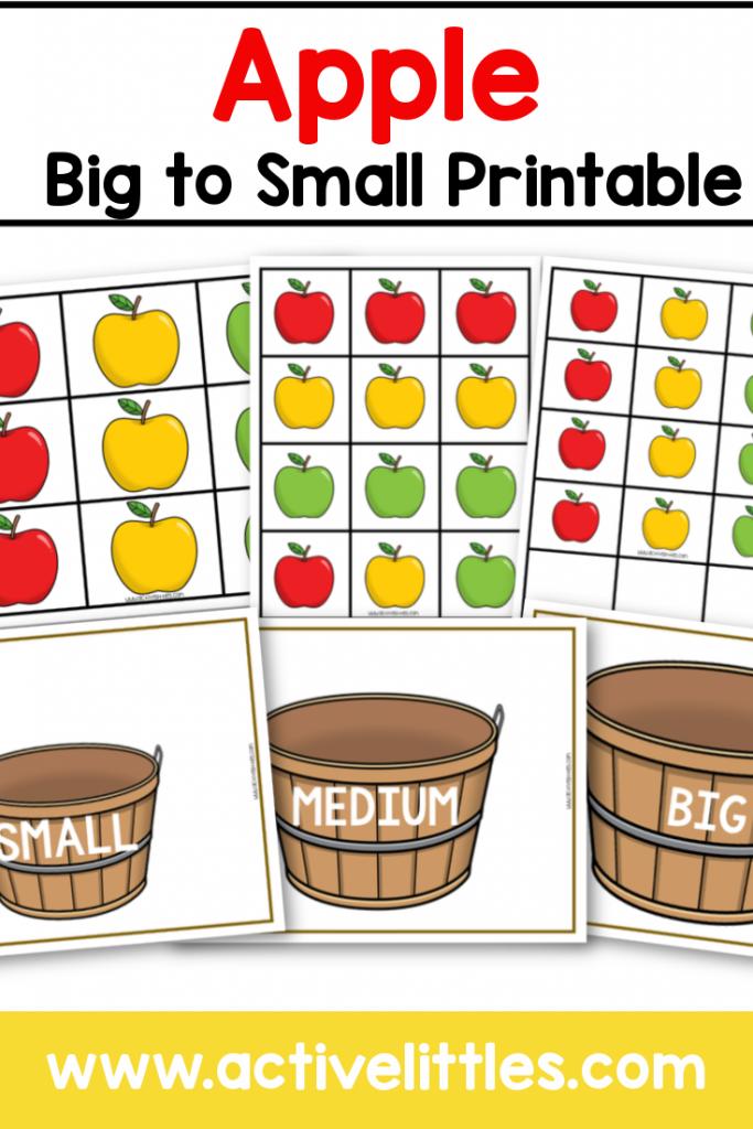 apple big to small printable