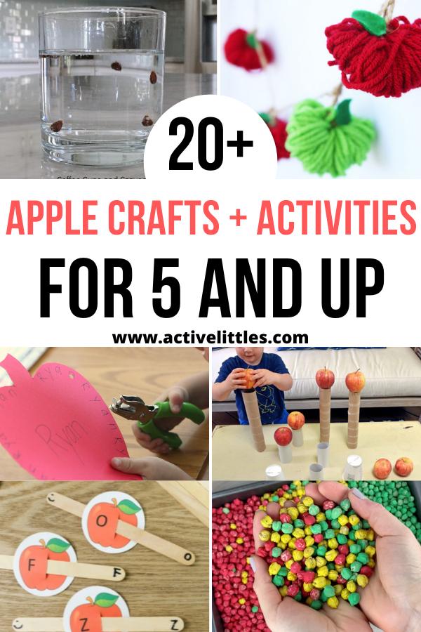 apple crafts and activities for kindergarten