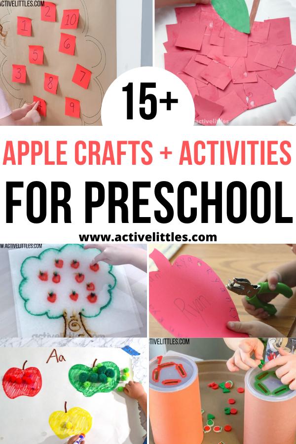 apple crafts and activities for preschool