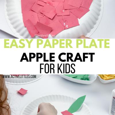 apple paper plate craft