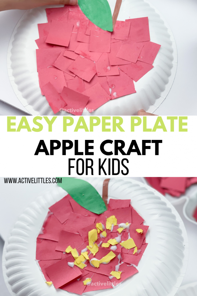 apple paperplate craft for kids