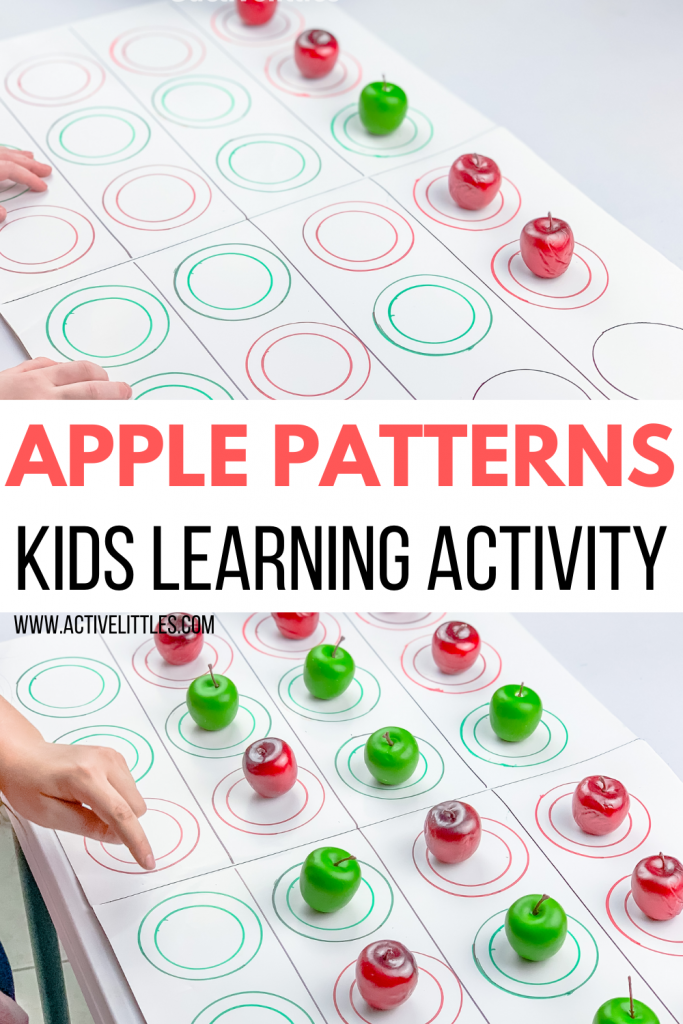 apple pattern matching activity