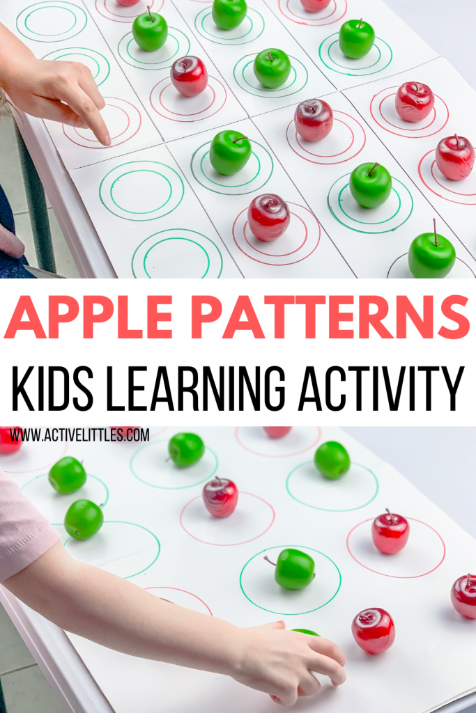 apple patterns activity for kids