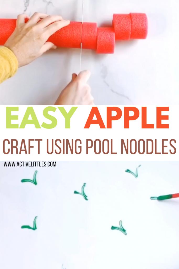 apple pool noodle craft