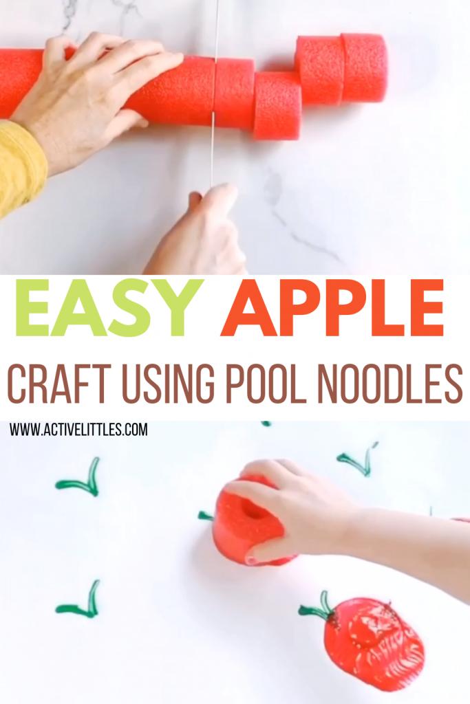 apple pool noodle crafts