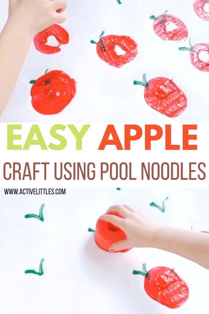 apple pool noodle crafts for kids