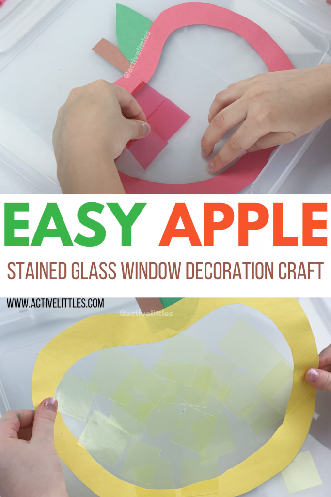 apple stained glass craft for kids
