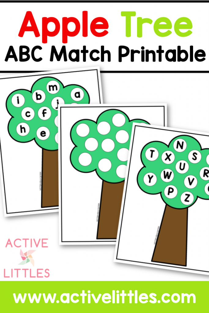 apple tree abc match printable