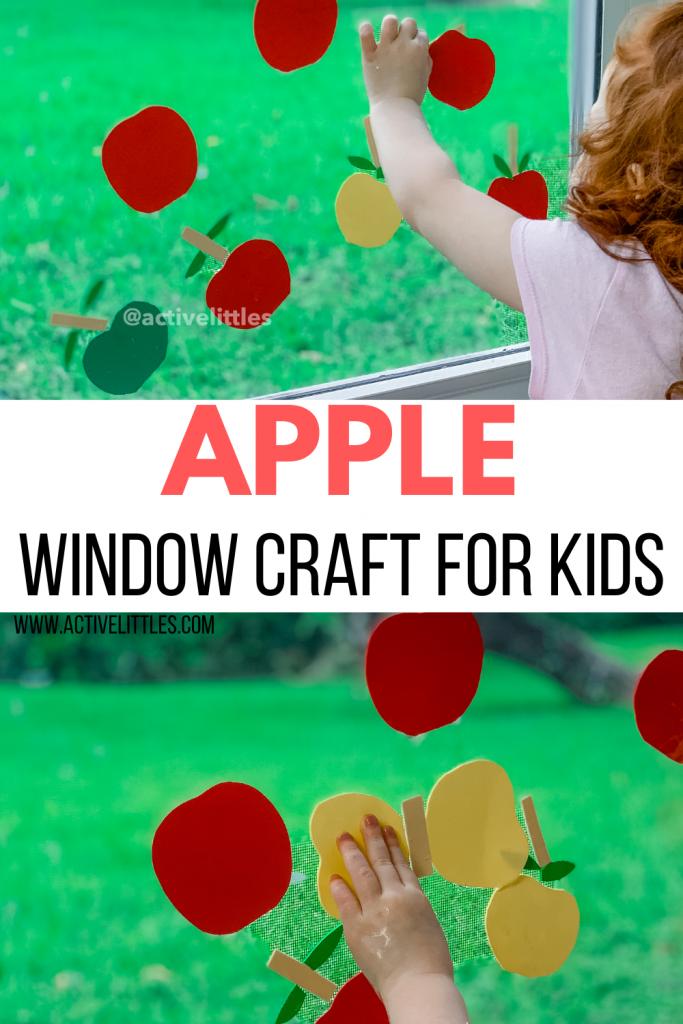 apple window craft diy for kids
