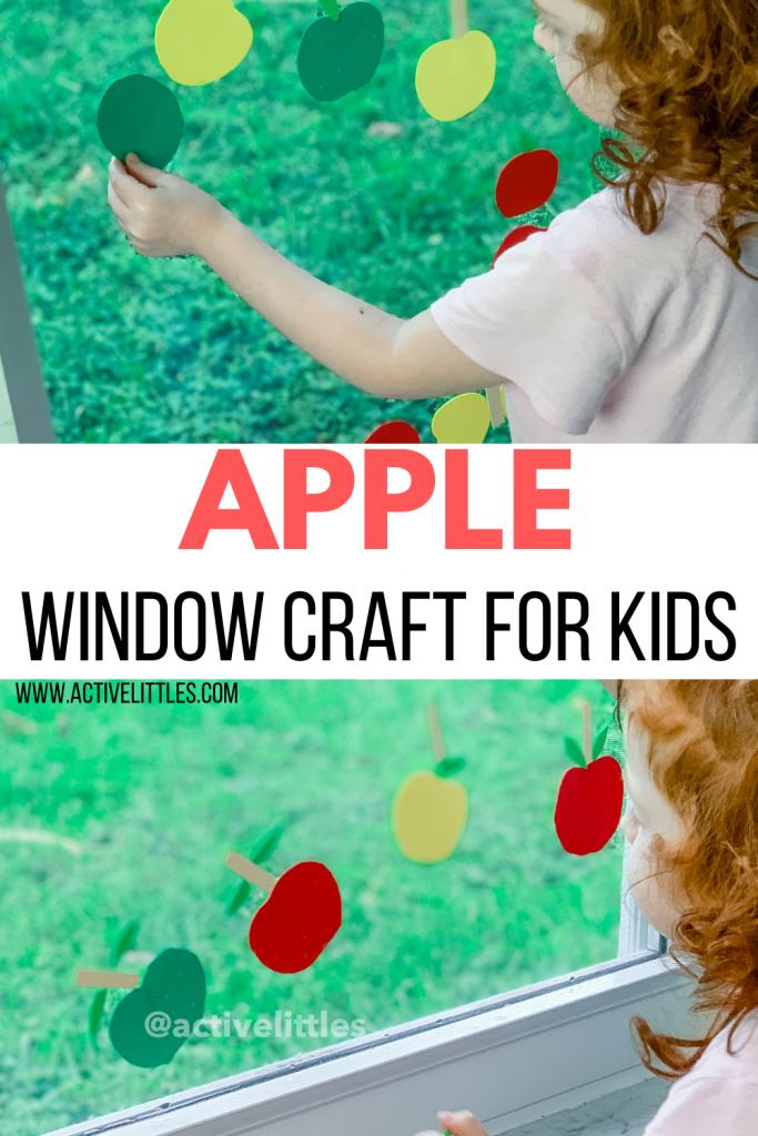 apple window craft for kids