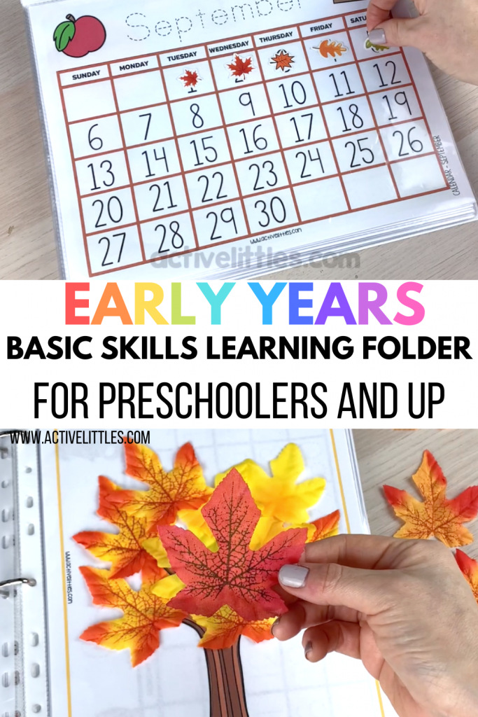 early learning preschool yearly binder