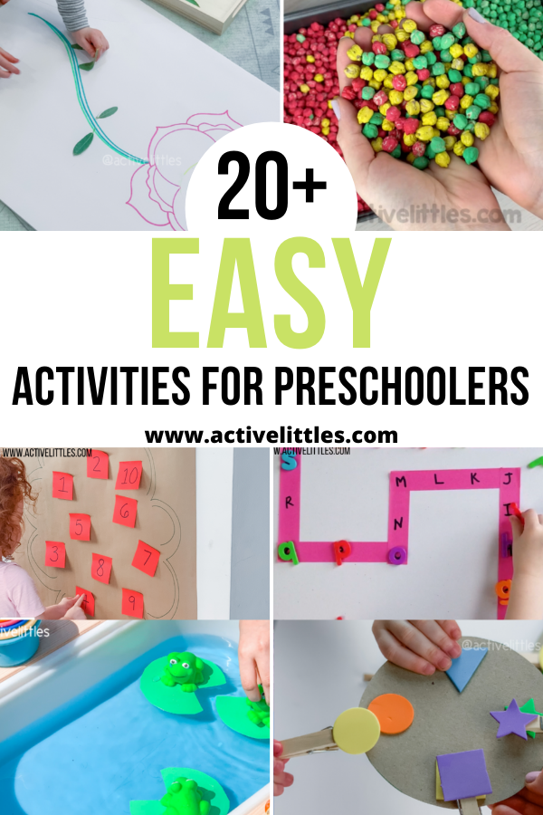 easy activities for preschoolers