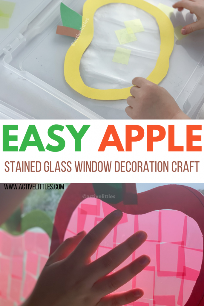 easy apple stained glass craft