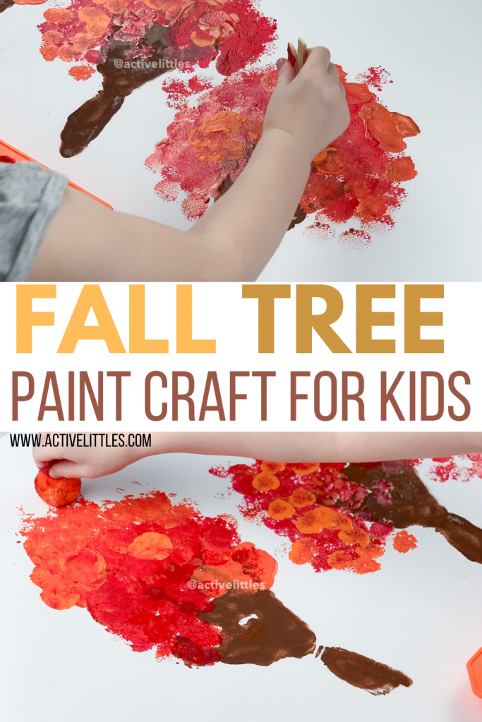 Fall Tree Paint Craft Tree Template Free Printable Active Littles