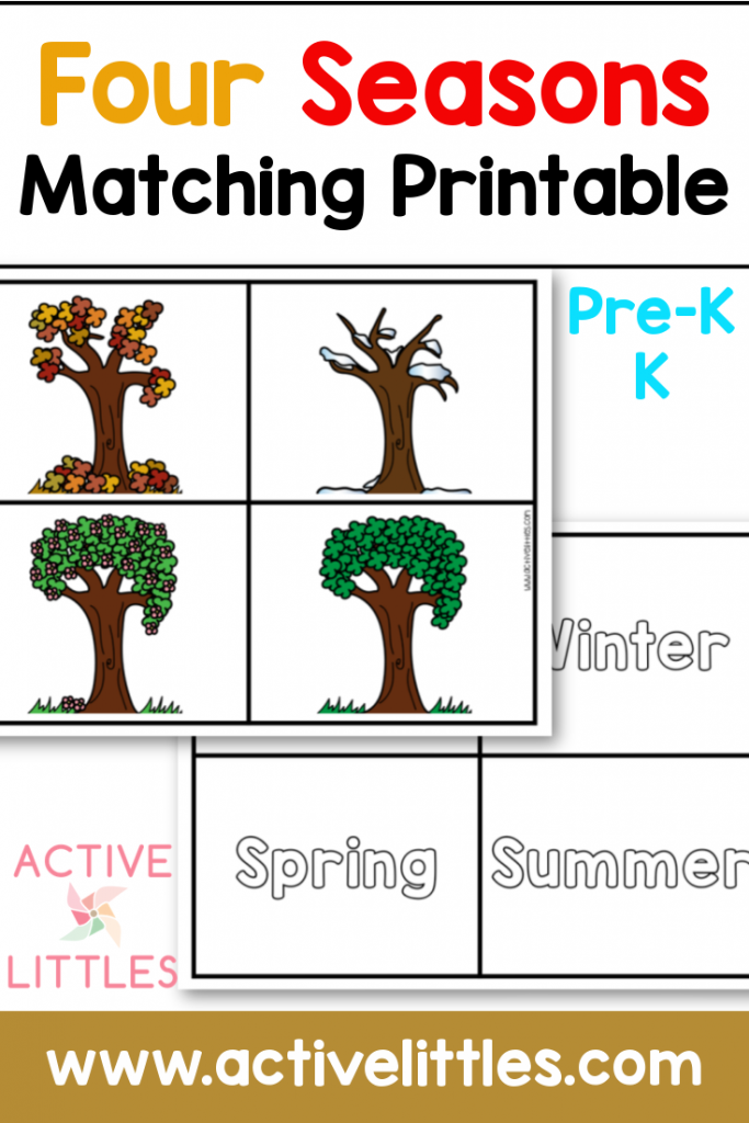 four seasons matching printable