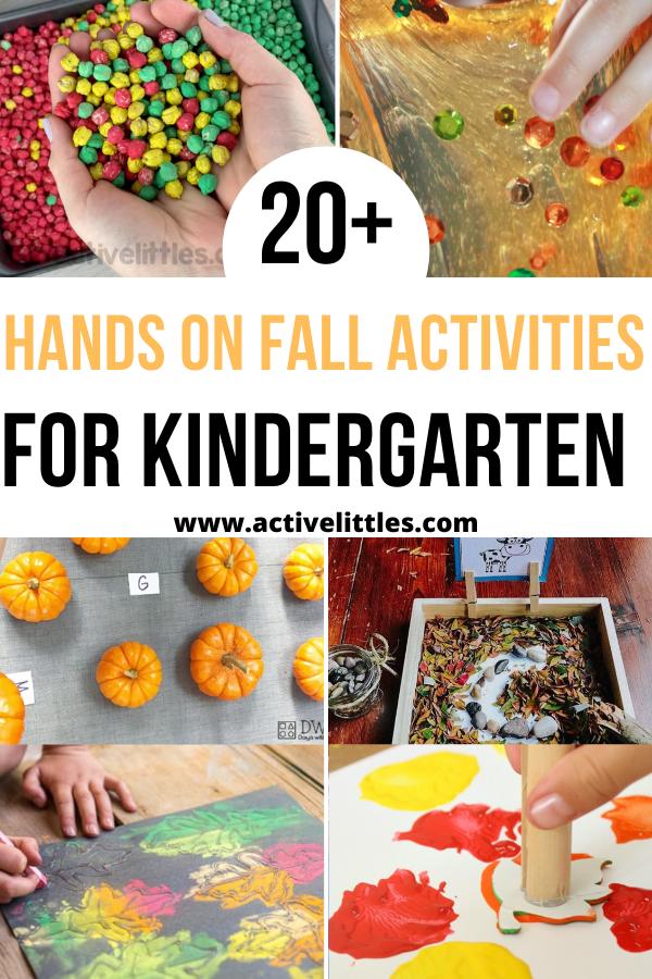 hands on fall activities for kindergarten