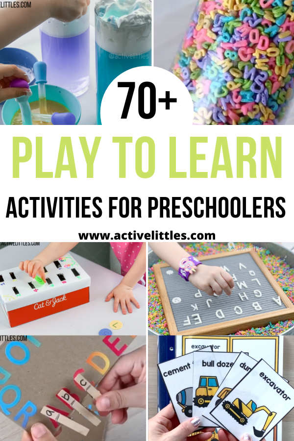 play to learn activities for preschoolers