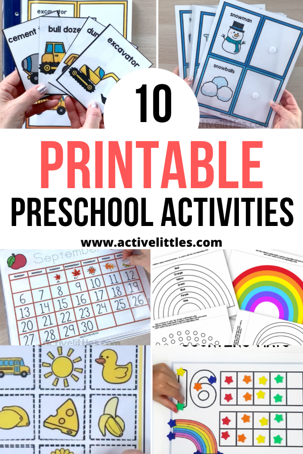 printable preschool activities