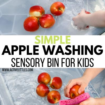 simple apple washing activity